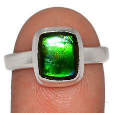 Canadian Ammolite 925 Sterling Silver Ring Jewelry s.9 AR163737
