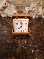 Equity Wind Up Folding Travel Alarm Clock- Vintage Great Shape.