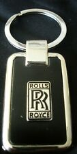 Rolls Royce Black Onyx w/ Silver Trim Key Chain-Free Engraving on back