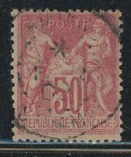 France 1898 50c Carmine Peace & Commerce Sc# 107 used