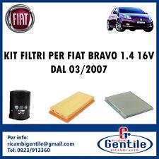 KIT 3 FILTRI TAGLIANDO PER FIAT BRAVO 1.4 16V 71KW 97CV DAL 03/2007 192B2000