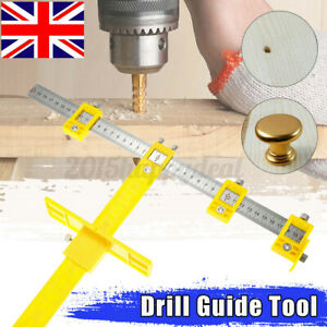 UK Punch Locator Drill Guide Tool Sleeve Cabinet Hardware Jig Drawer Woo !