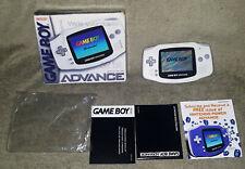 Nintendo Gameboy Advance GBA AGB-001 Arctic White BOX Complete 32 Bit Handheld