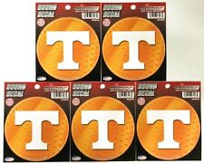"""Lot of 5 Officially Licensed 4 1/2"""" round decals Tennessee Vols"""