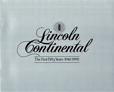 1990 Lincoln Continental  Town Car First Fifty Years 1940-1990 Sales Brochure