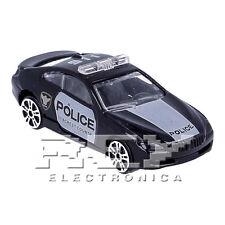 Coche Deportivo Policia Juguete Negro Escala 1:64 ¡Envío desde ESPAÑA! j233
