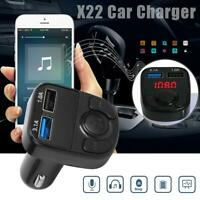 X22 Handsfree 3.1A LCD Dual USB Car Charger Bluetooth 5.0 Wireless Radio Adapter