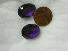 Amethyst 39.09 Carats 2 Faceted Natural Inclusions Color Zoning Fine Purple
