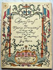 GUY ARNOUX Chansons du marin français au temps de la marine en bois 1918 pochoir