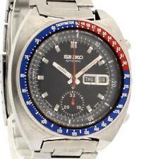 Vintage Seiko Pepsi Bezel Automatic Chronograph Blue Dial Men's Watch 6139-6005