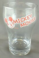 Disney Mickey Mouse Coke Glass Shaped Tumbler Drinking Glass Red Design