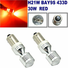 2x RED H21W BAY9s 433D 30W CanBus Car Brake Force Light Rear Fog Light BMW 120D