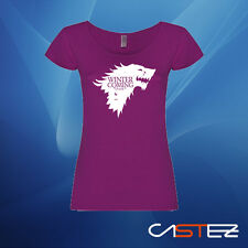 Camiseta mujer Juego de Tronos Stark winter is coming game of thron ENVIO 24/48h