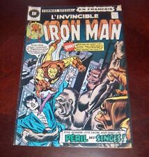 Editions Heritage Invincible Iron Man # 37 1976 French Edition Black White