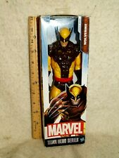"Marvel Titan Hero Series 12"" Wolverine Action Figurine Classic Brown Yellow NIB"