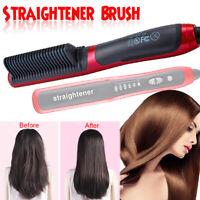 6 level Electric Hair Beard Straightener Brush Heated Comb Multifunctional  ! #%