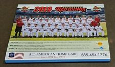 2019 AAA SGA Rochester Red Wings team photo picture rookie
