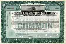 New listing 19_ Geneva Corning & Southern Rr Stock Certificate