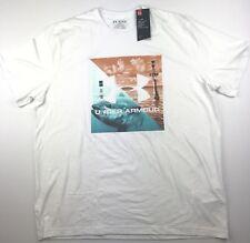 Under Armour Mens 2XL Salt Water White Fishing Graphic Heatgear T-Shirt NWT