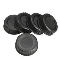 5x Rear Len Cap Cover for All Nikon AF AF-S DSLR SLR Camera LF-4 Lens Dust Black