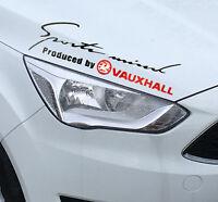 ☆New☆ Headlight Eyebrow Car Stickers Decals Graphics Vinyl For Vauxhall (Black)