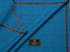 HARRISONS OF EDINBURGH 'LABYRINTH' MIX BLUE & CHECK JACKETING FABRIC 2.5M