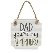 Dad You're My Superhero Wooden Plaque – Fathers Day Gift Sign Gisela Graham