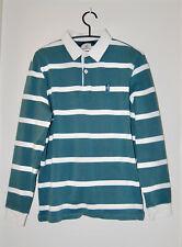NWT Johnnie-O Men's Emerald Green Striped Zealand LS Rugby Shirt sz M