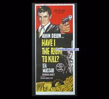 Have I the Right to Kill 1964 The Unvanquished L'Insoumis Aust Daybill Poster