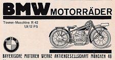 1927 MOTO BMW r42 Viaggi MONACO circa 15x7 cm ORIGINALE pubblicità a mezzo stampa
