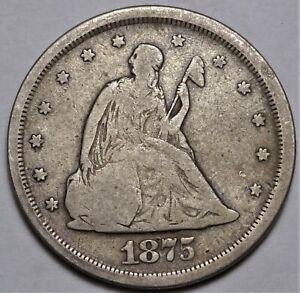 1875-S Twenty Cent Piece Very Fine VF 20c Type Coin