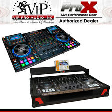 Denon MCX8000 DJ CONTROLLER & XS-MCX8000WLTRB Flight Road Case W/ Laptop Shelf.