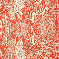 By 1/2 Yard ~ Amy Butler Cotton Fabric ~ Bright Heart Oh Deer in Coral