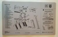 GLOCK AS10064 GEN 5  Perfection OEM Gun Cleaning Bench Mat 11 X 17 Grey