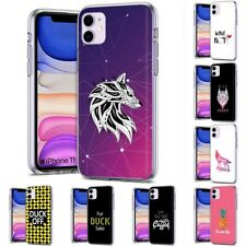 Thin Gel Design Protective Phone Case Cover for Apple iPhone 11,Wolf Style Print