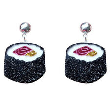 Sushi Food Shape Acrylic Studs Earrings Funny Drop Dangle Earrings Jewel LI