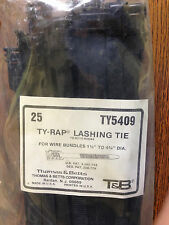 """THOMAS AND BETTS TY5409 19"""" TY-RAP LASHING TIE, For wire bundles, 25 each"""