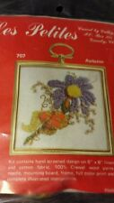 """VTG NIP LES PETITES  BY CATHY CREWEL EMBROIDERY KIT #707""""AUTUMN"""" FACTORY SEALED"""