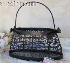 Women's Wire PURSE French Decor Basket Metal Clutch iron Metal Paris Basket