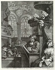 William Hogarth: Print Reproductions: The Sleepy Congregation:  Fine Art Print