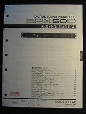 Yamaha Digital Sound Processor SPX50D Service Manual Schematics Parts SPX 50D