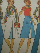 Vintage Women Reversible Wrapped Skirt Sewing Pattern Simplicity 7391 Sz 14 Wrap