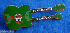 UYENO-EKI TOKYO WORLD CUP 2002 SOCCER FOOTBALL FIELD GUITAR Hard Rock Cafe PIN