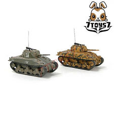 War Room 1/144 M4A1 US Sherman Tank_Set  #A_Prepainted World of Tank WWII WR001T
