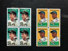 US POSTAL SERVICE BASEBALL STAMPS LOU GEHRIG AND JACKIE ROBINSON