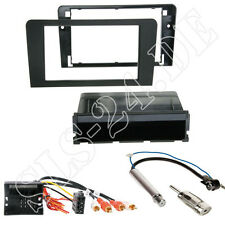 AUDI A3 FACELIFT ab2006 mit BOSE DOPPEL-DIN Blende+Fach+ ISO Adapter Einbauset