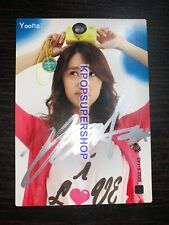 Yoona Autographed Signed Star Card 2.5 Photocard Great SNSD Girls' Generation
