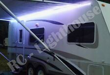 RV Camper 6' ft WHITE LED Awning Light 12V w/ mini 10 key remote camper 3528