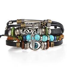 Fashion Unisex Women Men Multilayer Good Luck Evil Eye Bracelet Bangle Jewelry