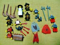1 x Lego System Head Figure Mrs Castle Fright Knights Witch Witch Yellow Mouth Red M